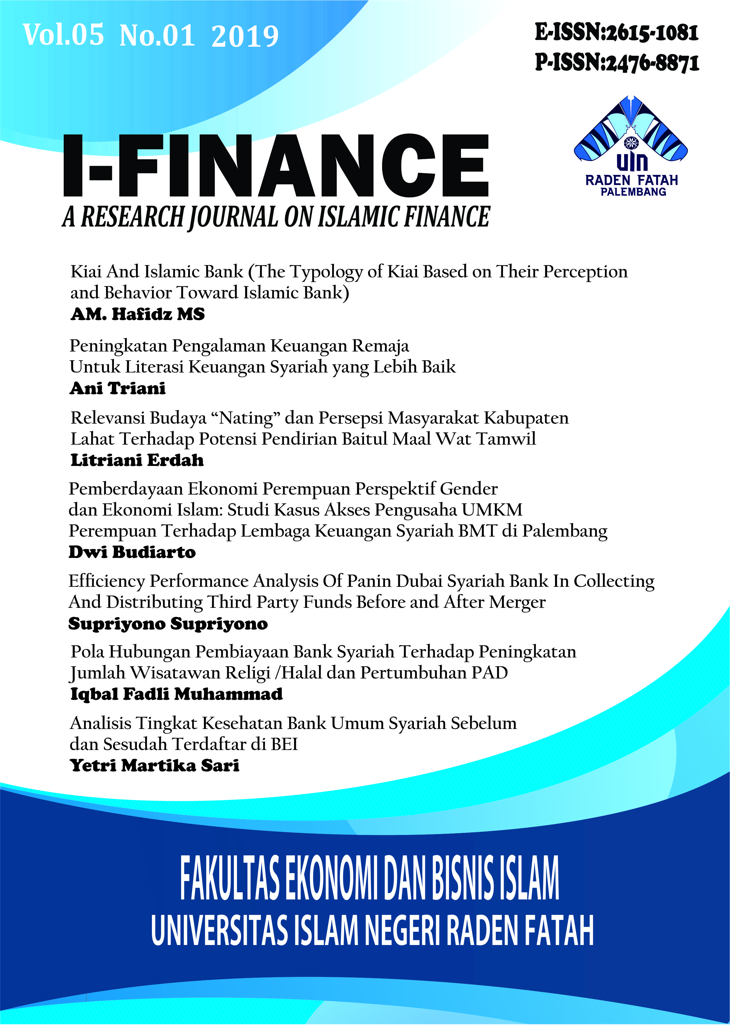 I-Finance: a Research Journal on Islamic Finance